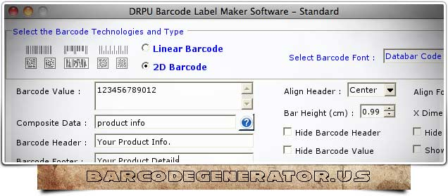 Barcode Generator Software - click for full size
